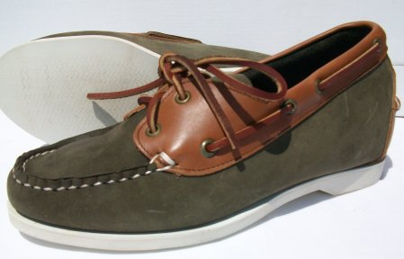 Olive Green Deck Shoes-FD