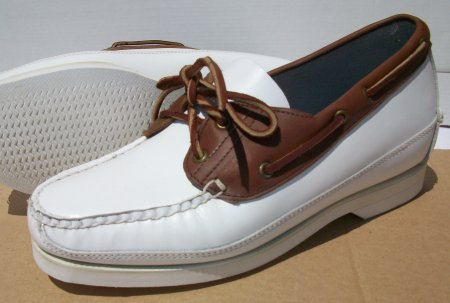 White & Brown Cruise Mocs-FD