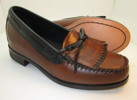 Brown Kiltie Slip-On