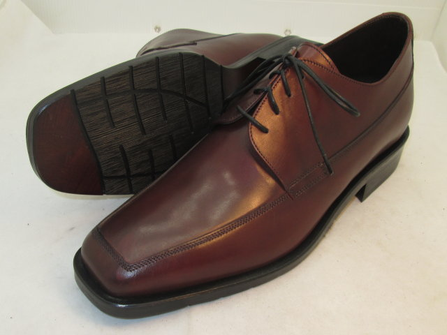 Italian Square Toe Ties-Burgundy