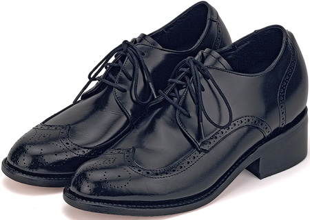 Black 3'' Wing Tips