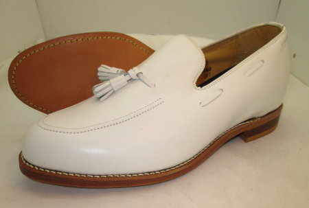 White Tassel Loafer