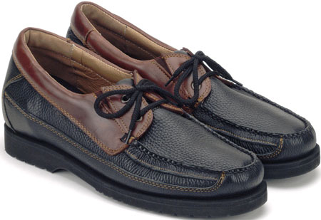 Black/Brown 2-Tone Canoe Moc