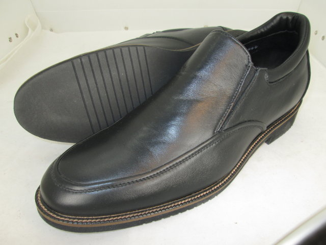 Black Moc Toe Slip-On
