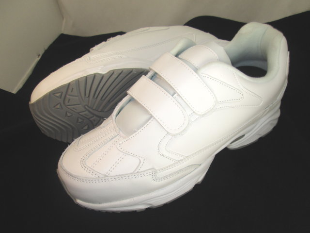 White Velcro Leather Sneakers
