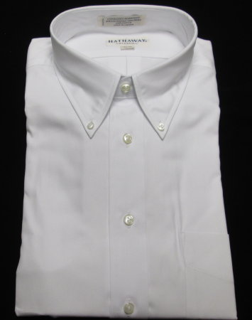 100% Cotton Dress Shirt-White