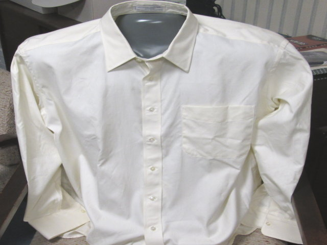 Cream 100% Cotton Dress Shirt-SAVE $30!!!