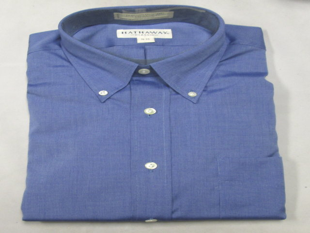 Blue 100% Cotton Button Down Shirt-SAVE $40!!!