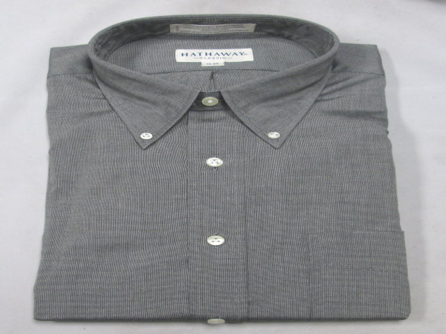 Grey 100% Cotton Dress Shirt-SAVE $40!!!
