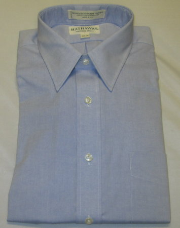 Wrinkle Free Dress Shirt-Blue