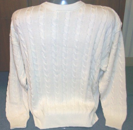 Natural Cable  Crew Sweater-SAVE $40!!!